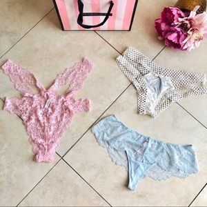 Victoria Secret Dream Angels Panty LOT OF THREE M